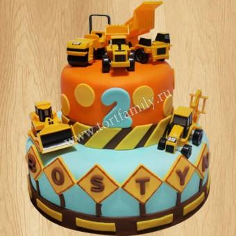 торт с экскаватором фото