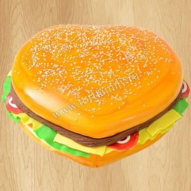 Торт в виде гамбургера
