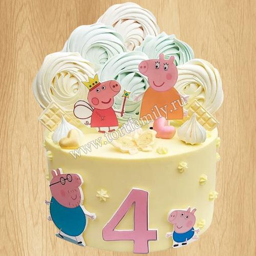 Торт на день рождения Свинка Пеппа