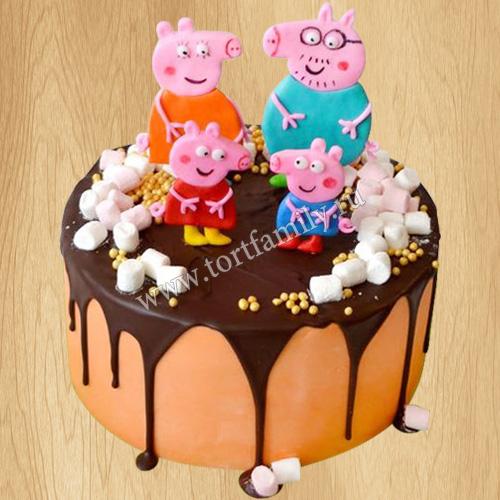 Торт Свинка Пеппа без мастики