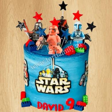 Торт с Лего человечками