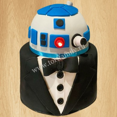 Торт в виде робота R2-D2