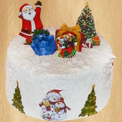 Новогодний торт в офис