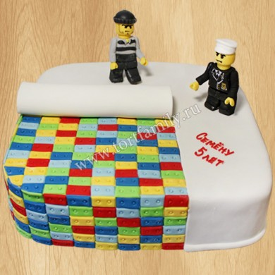 Торт Лего на 5 лет