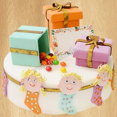 Торт из подарочных коробок