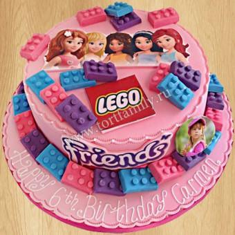 5531e101f Торты Лего Френдс на заказ | Купить торт Lego Friends | Заказать ...