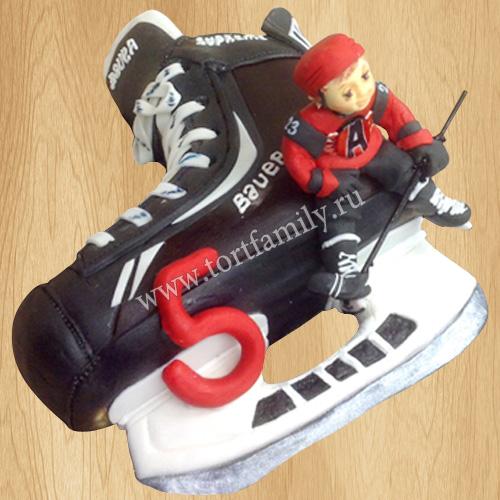 Торт хоккейные коньки