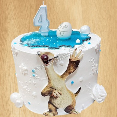 Торт Ленивец Сид