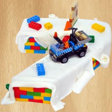 Торт цифра на 7 лет