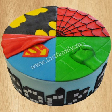 Торт Бэтмен Супермен