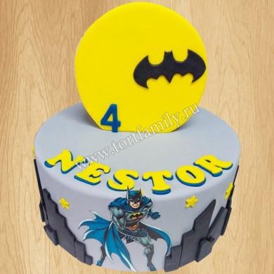 Торт Человек паук и Бэтмен