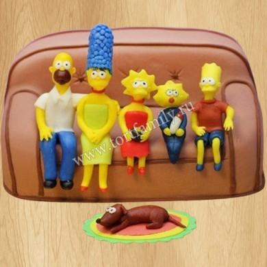 Торт Симпсоны на день рождения