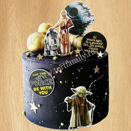 Торт для мальчика Звездные войны