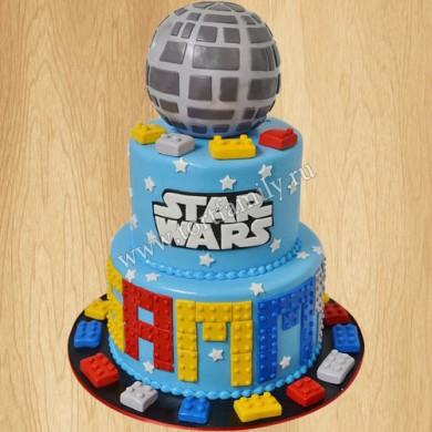 Торт Лего Звездные войны