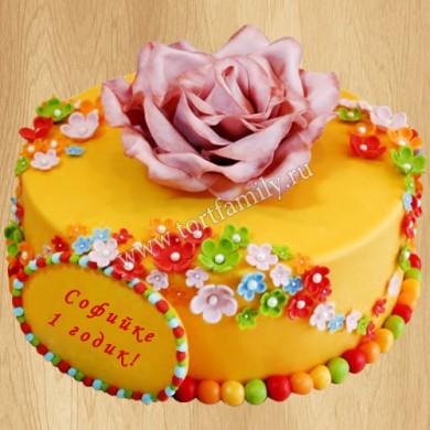Торт дочке на 1 год