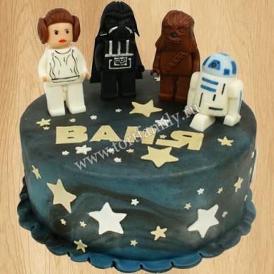 Торт на день рождения Звездные войны