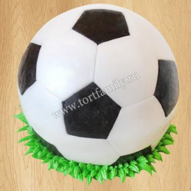 Торт в виде футбольного мяча