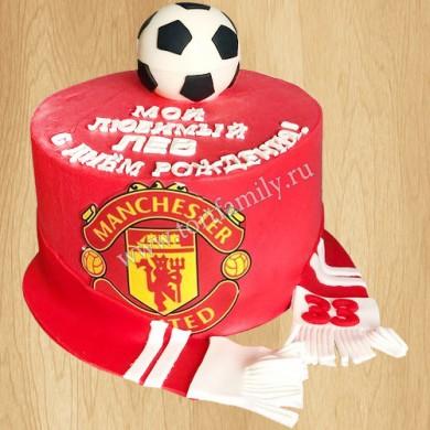 Футбольный торт манчестер юнайтед