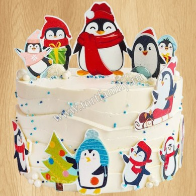 Торт пингвины в Антарктиде