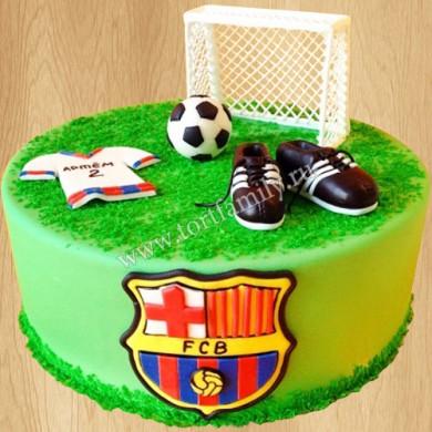 Торт футбольный клуб Барселона