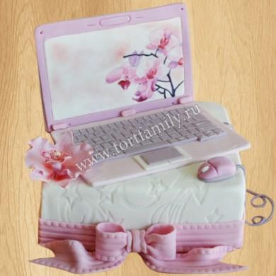 Торт ноутбук для девочки