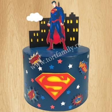 Торт Супермен для мальчика