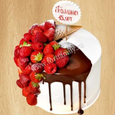 Торт мороженое с ягодами