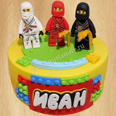 Лего торт для мальчиков