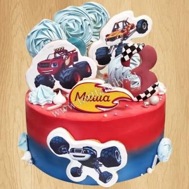 Торт с машинкой Вспышем