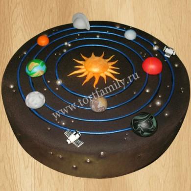 Космический торт с планетами