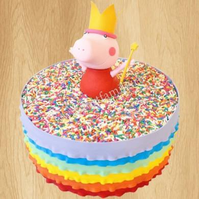 Торт Свинка Пеппа на 3 года