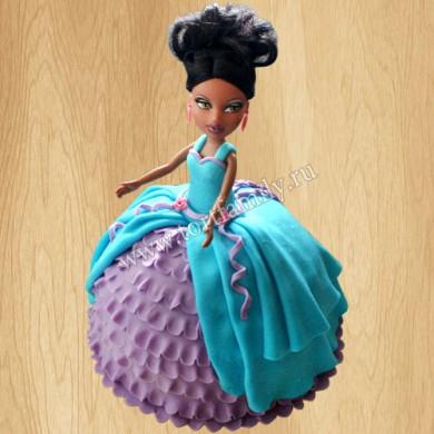 Торт кукла Братц Саша