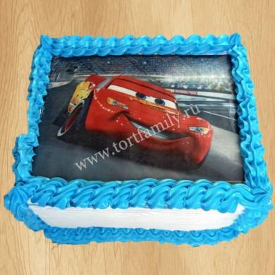 Торт с машинами на 2 года