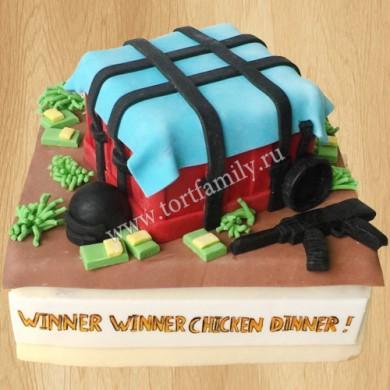 Торт с игрой pubg