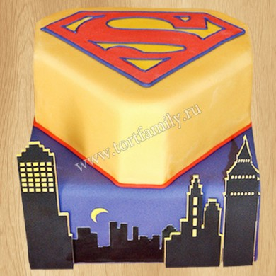 Торт Эмблема Супермена
