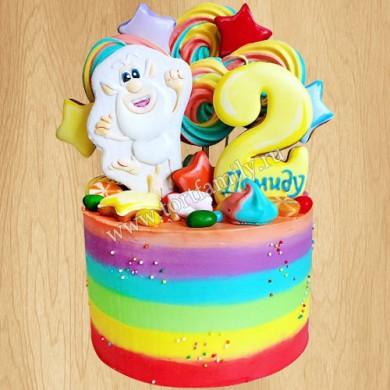 Детский торт с меренгами