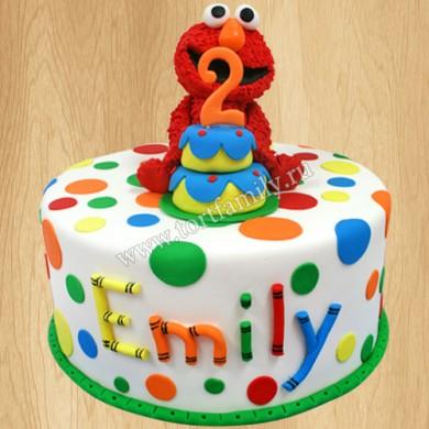 Торт дочери на 2 года