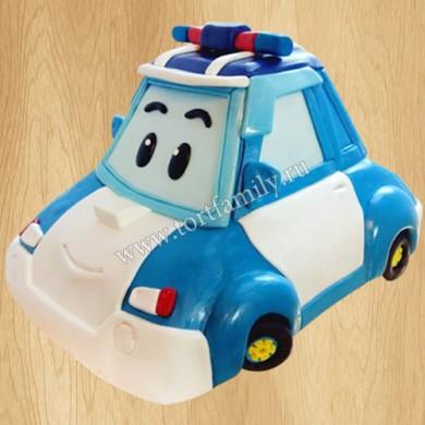 Торт полицейская машина Robocar Poli