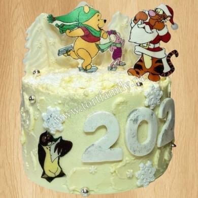 Торт в стиле Винни Пуха