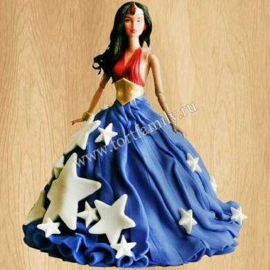 Торт кукла Чудо-женщина