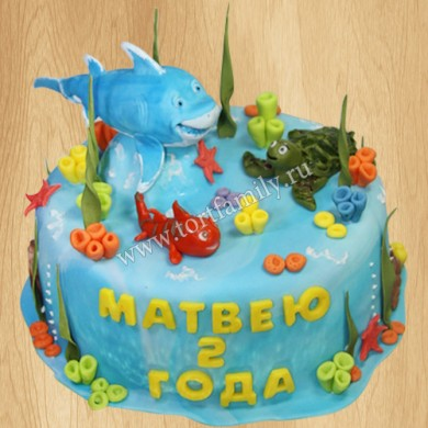 Торт бамбуковая акула