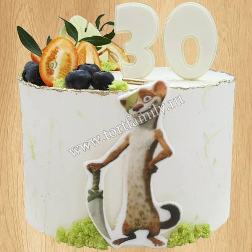 Торт с животными из Ледникового периода