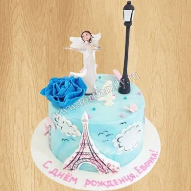 Торт на тему Париж