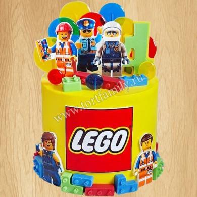 Торт с оформлением Лего