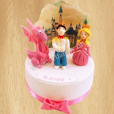 Торт с Принцессой и Драконом