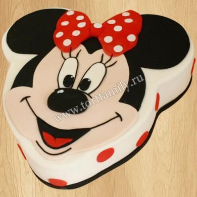 Торт в виде Микки Мауса