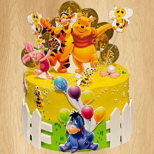 Торт Винни Пух для мальчика