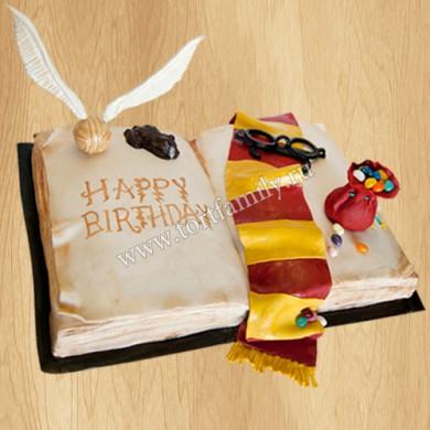Торт на день рождения Гарри Поттер