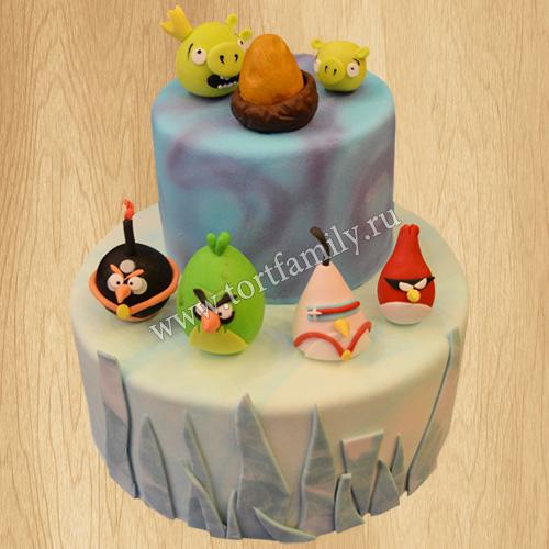 Торт Злые Птицы