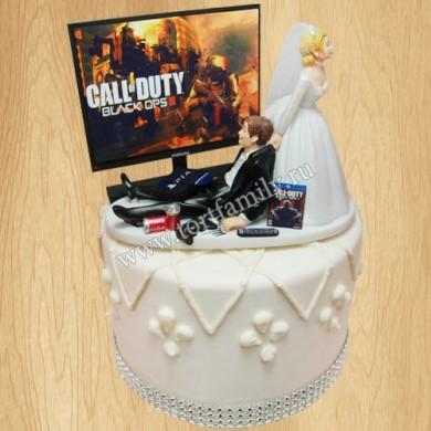 Свадебный торт на тему Call of Duty